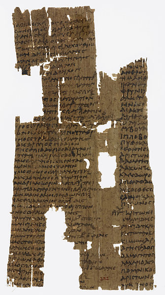 Remnants of an ancient Greek Papyrus Olympic Victor List, British Museum, London